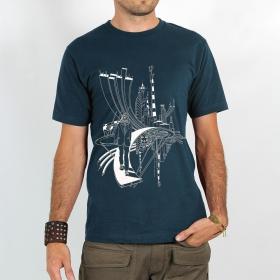 "T-shirt Rocky \""City cyclops\"", Bleu foncé"