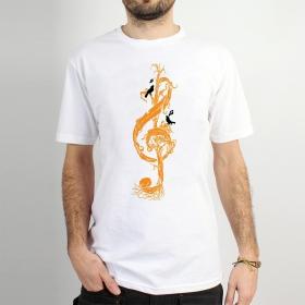 """T-shirt Rocky \""""Clé de sol végétale\"""", Blanc"""