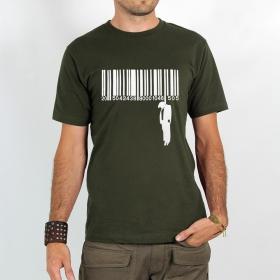 "T-shirt Rocky \""Code barre suicide\"", Kaki"