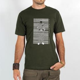 """T-shirt Rocky \""""Consumer prisoner\"""", Kaki"""