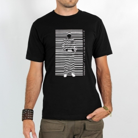 """T-shirt Rocky \""""Consumer prisoner\"""", Noir"""