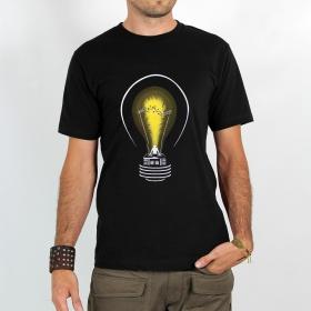"""T-shirt Rocky \""""Dj light\"""", Noir"""