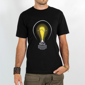 "T-shirt Rocky ""Dj light\"", Noir"