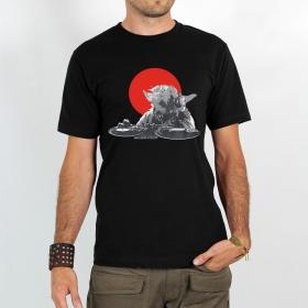 "T-shirt Rocky \""Dj yoda\"", Noir"
