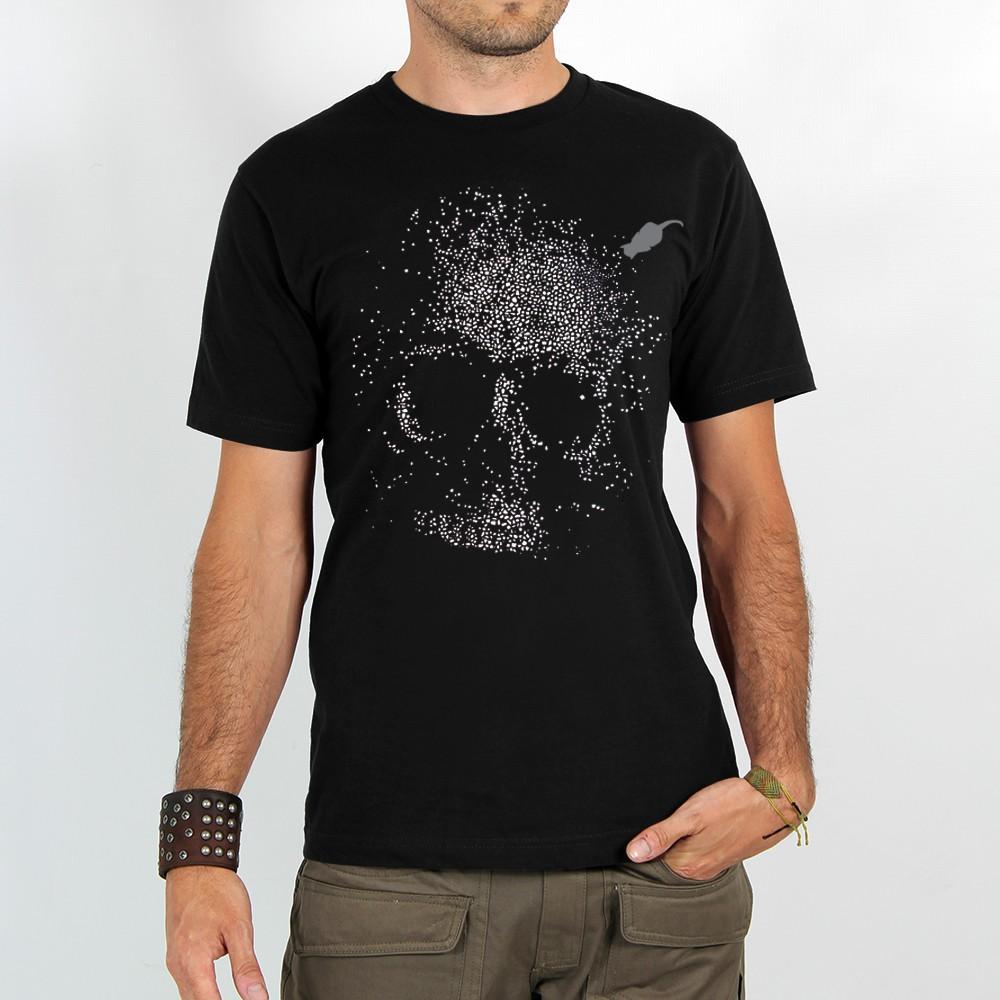 "T-shirt Rocky \""Dots skull\"", Noir"