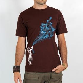 "T-shirt Rocky \""Flying medusa\"", Marron"