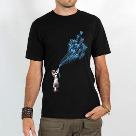 """T-shirt Rocky \""""Flying medusa\"""" Noir"""