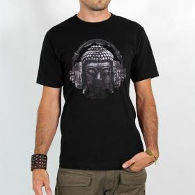 """T-shirt Rocky \""""Headphone bouddha\"""", Noir"""
