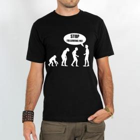 """T-shirt Rocky \""""Human evolution\"""", Noir"""