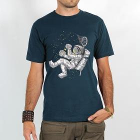 "T-shirt Rocky \""Hunter of stars\"", Bleu foncé"