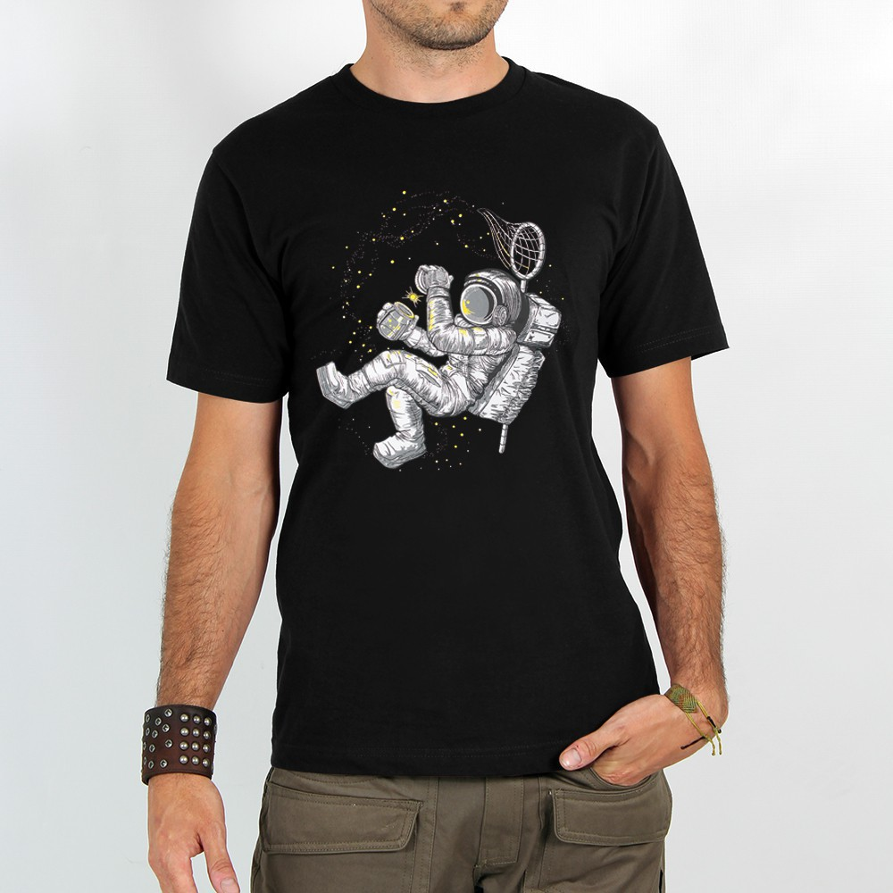 "T-shirt Rocky \""Hunter of stars\"", Noir"