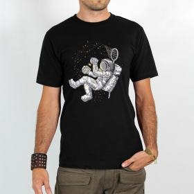 "T-shirt Rocky ""Hunter of stars\"", Noir"