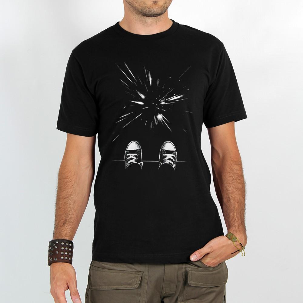 """T-shirt Rocky \""""Jump or not\"""", Noir"""