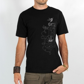 "T-shirt Rocky \\\""Kolibri\\\"", Noir"