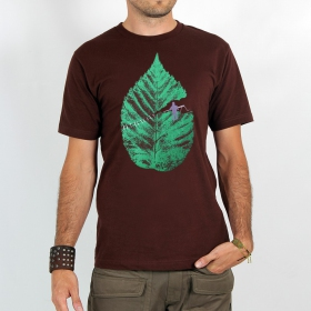 "T-shirt Rocky ""Leaf\"", Marron"