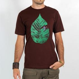 "T-shirt Rocky \""Leaf\"", Marron"