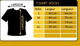"T-shirt Rocky \""Liveset skull\"", Bleu foncé"