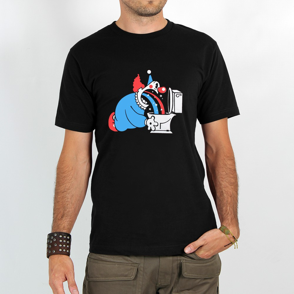 "T-shirt Rocky ""Magic clown\"", Noir"