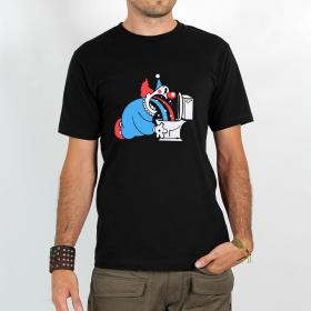 """T-shirt Rocky \""""Magic clown\"""", Noir"""