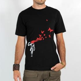 """T-shirt Rocky \""""Manga suicide papillon\"""", Noir"""