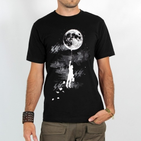 "T-shirt Rocky ""Moon balloon\"", Noir"