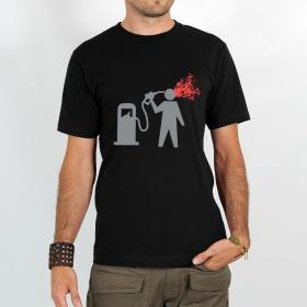 """T-shirt Rocky \""""Petrol suicide\"""", Noir"""