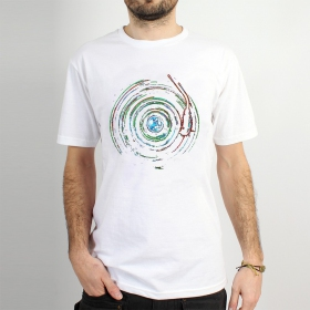 "T-shirt Rocky \""Planète skeud\"", Blanc"
