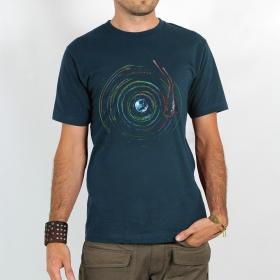 "T-shirt Rocky \""Planète skeud\"", Bleu"