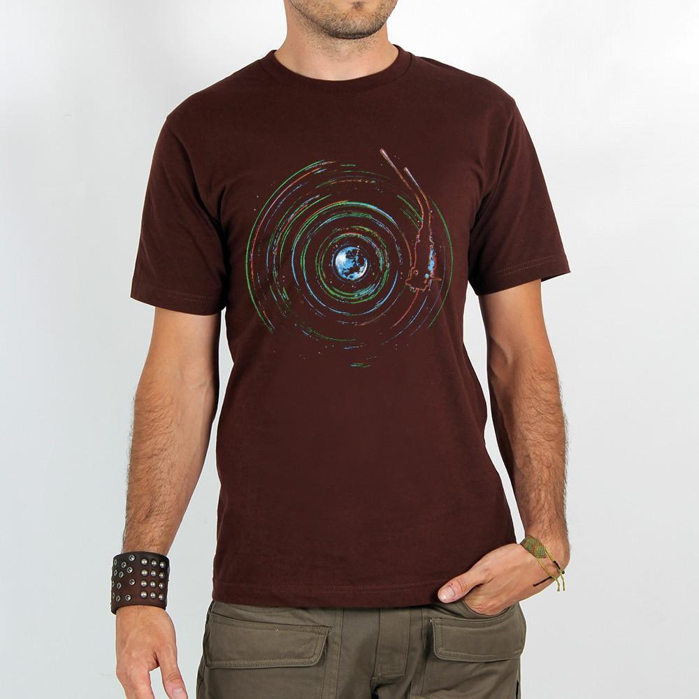 """T-shirt Rocky \""""Planète skeud\"""", Marron"""
