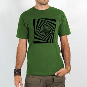 """T-shirt Rocky \""""Psyche spiral\"""", Vert"""