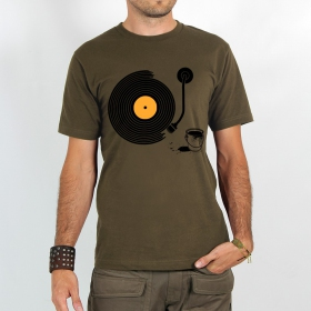 "T-shirt Rocky ""Record painter\"", Marron clair"