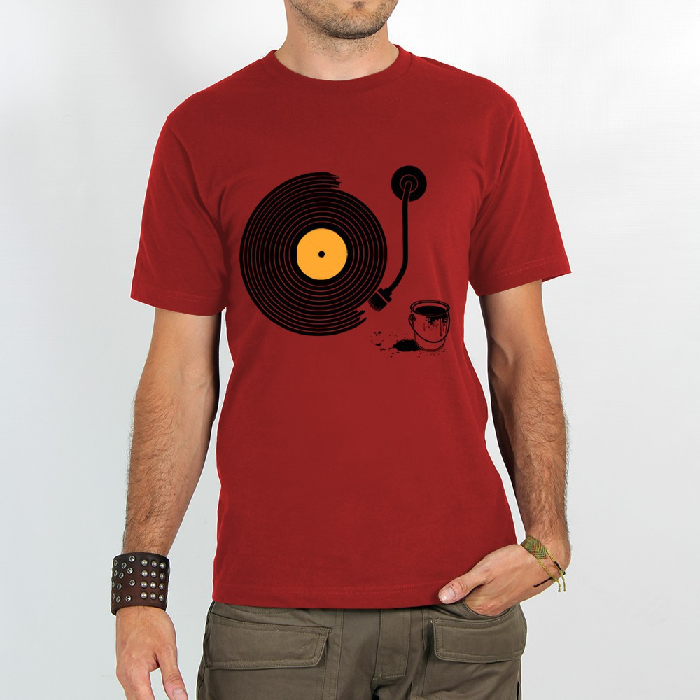 "T-shirt Rocky ""Record painter\"", Rouge"