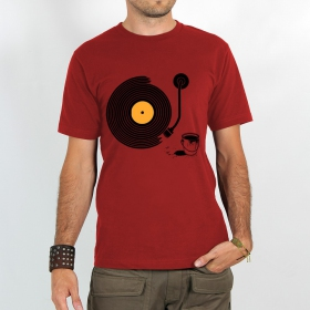 """T-shirt Rocky \""""Record painter\"""", Rouge"""