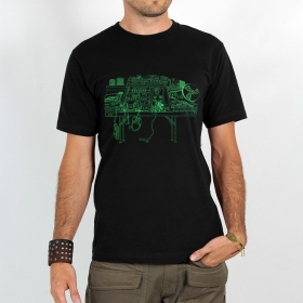 "T-shirt Rocky \""Recording studio\"", Noir"