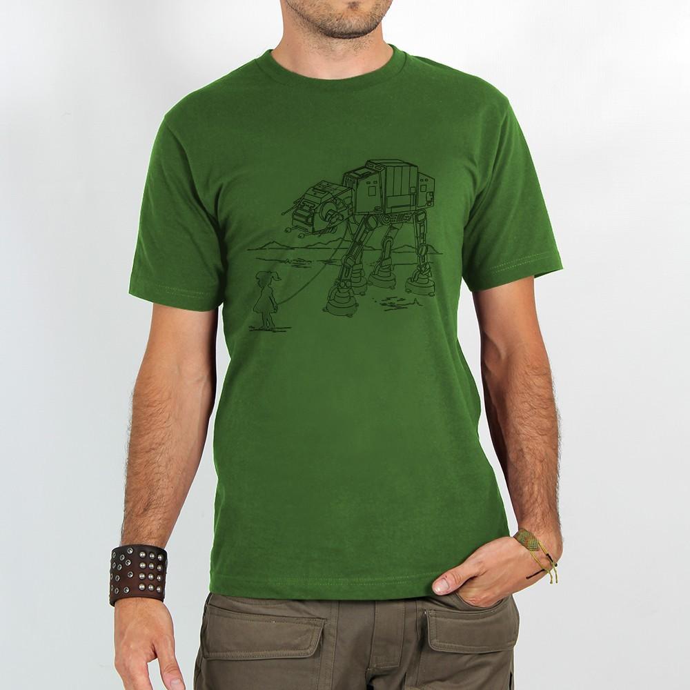 """T-shirt Rocky \""""Robot pet\"""", Vert"""