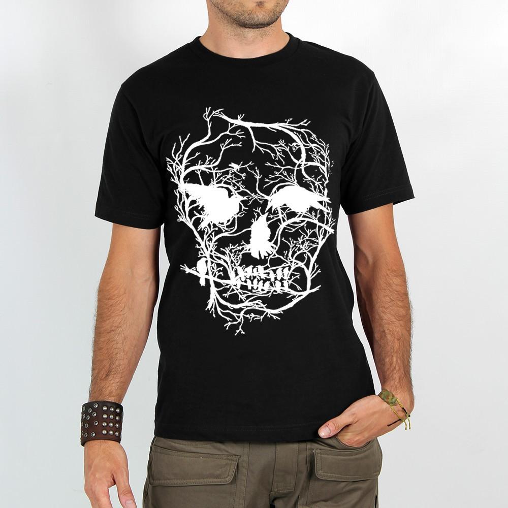 """T-shirt Rocky \""""Skull\"""", Noir"""