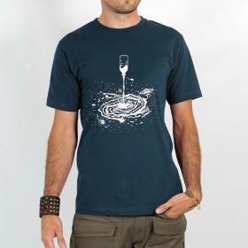 "T-shirt Rocky \""Spiral universe\"", Bleu gris foncé"