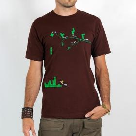 """T-shirt Rocky \""""Tetris ants\"""", Marron"""