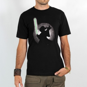 "T-shirt Rocky ""Yoda shadow\"", Noir"