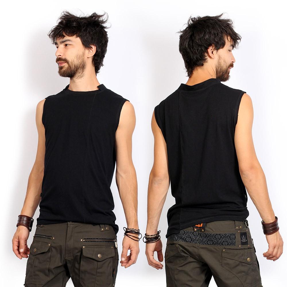 "T-shirt sans manches \""Blended\"", Noir"