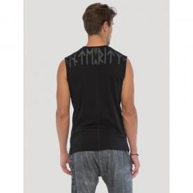"T-shirt sans manches \""Dragon\"", Noir"