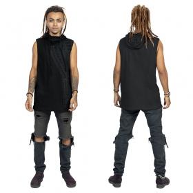 """T-shirt sans manches \""""Tikal\"""", Noir"""