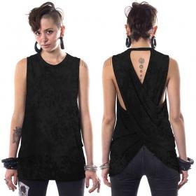 """T-shirt sans manches \""""V-173\"""", Noir tacheté"""