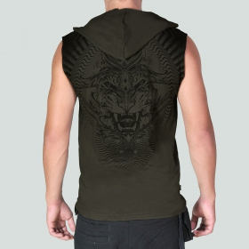 "T-shirt sans manches Psylo \""Tiger\"", Olive"