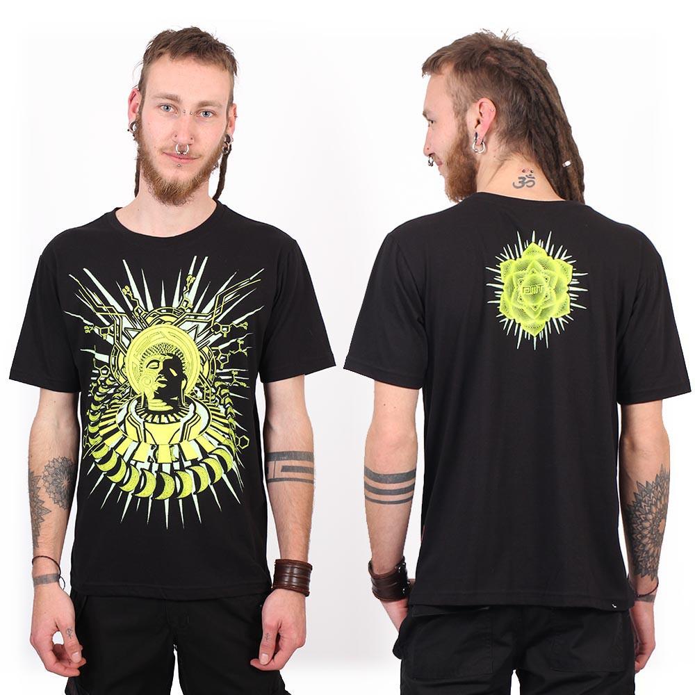 "T-Shirt Shaman \""Buddha DMT\"", Noir"