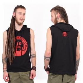 "T-Shirt Shaman \""Meditative Beats\"", Noir"