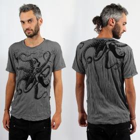 """T-shirt Sure \\\""""Octopus\\\"""", Gris foncé"""