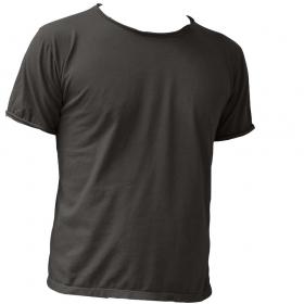 "T-shirt uni \\\""Woonwai\\\"", Gris charbon"