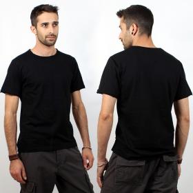"""T-shirt uni \""""Woonwai\"""", Noir"""