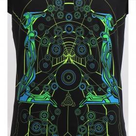 "T-shirt UV \""Androids\"", Noir"
